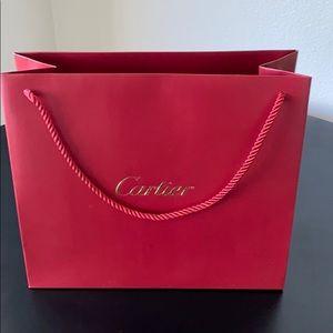 Cartier Red Gift Shopping Bag